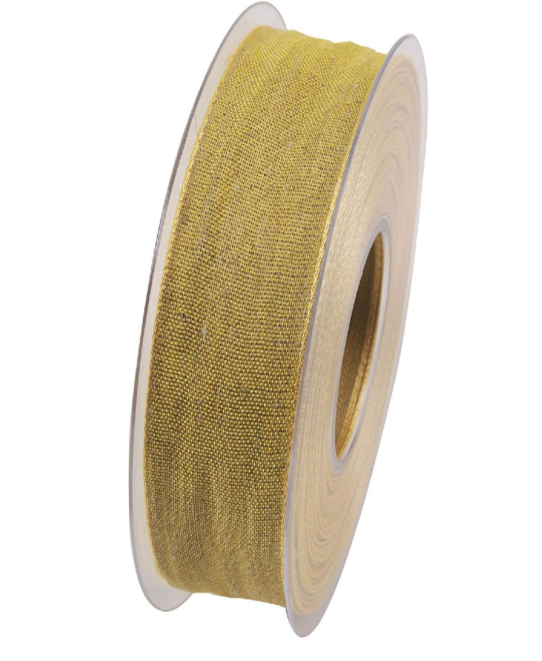 Band Botswana Leinenband GELB X092 122 25mm  20Meter Drahtkante