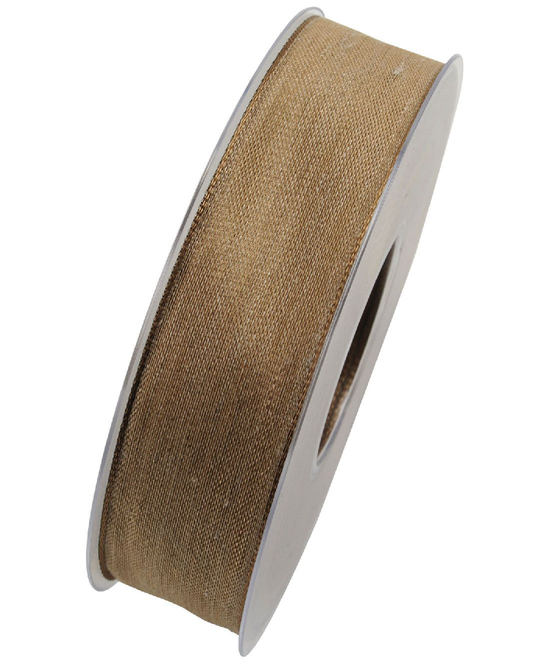 Band Botswana Leinenband HELLBRAUN X092 71 25mm  20Meter Drahtkante