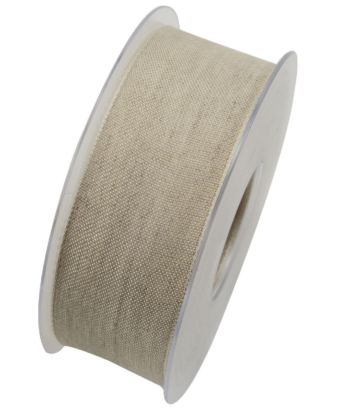 Band Botswana Leinenband NATUR X092 02 40mm  20Meter Drahtkante