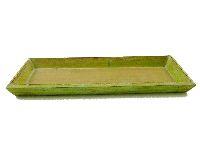 Tablett Olga / Holztablett GRÜN 10108 39x15x2,5cm Dekotablett