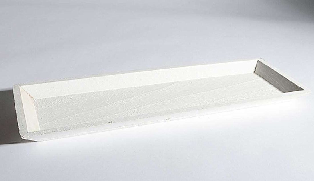 Tablett Olga / Holztablett WEISS 33799 45x16x2,5cm Dekotablett