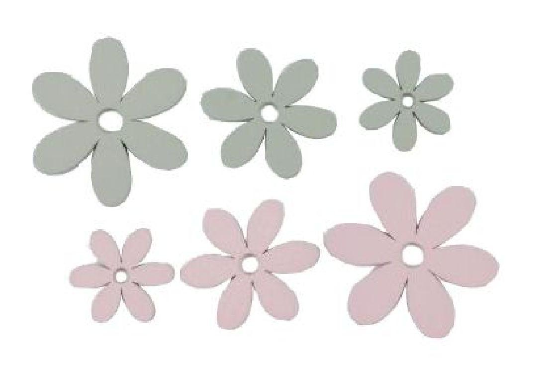 Streublüte Marry GRAU-ROSA 16025 3,5-3,9cm 3 Größen Holz