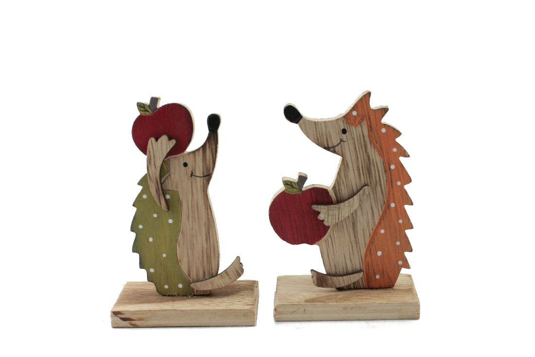 Igel Pommi ORANGE-GRÜN 36038 Figur 11x4,5cm Fuß:7cm 2-fach
