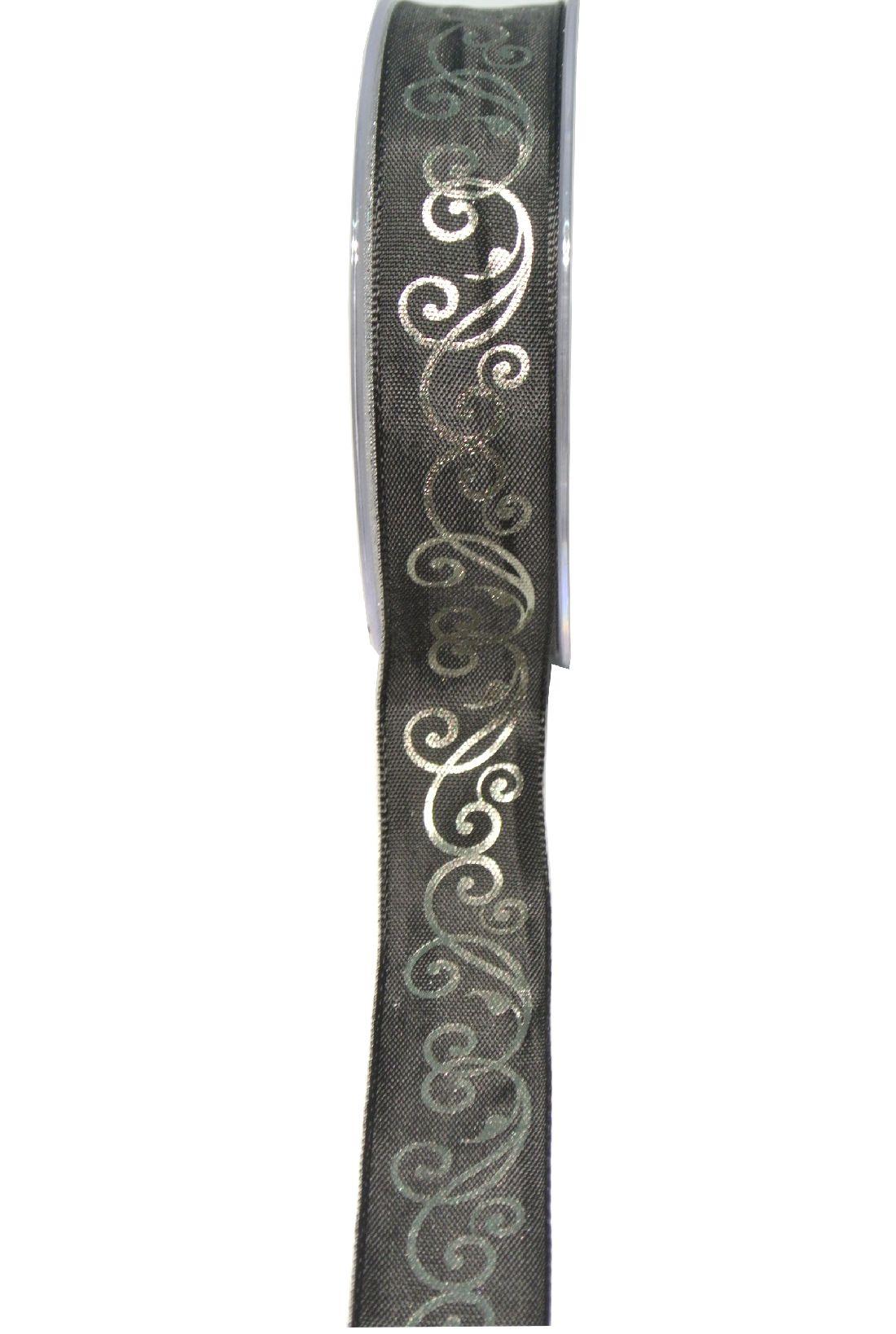 Trauerranke SCHWARZ-100525 25mm 20m