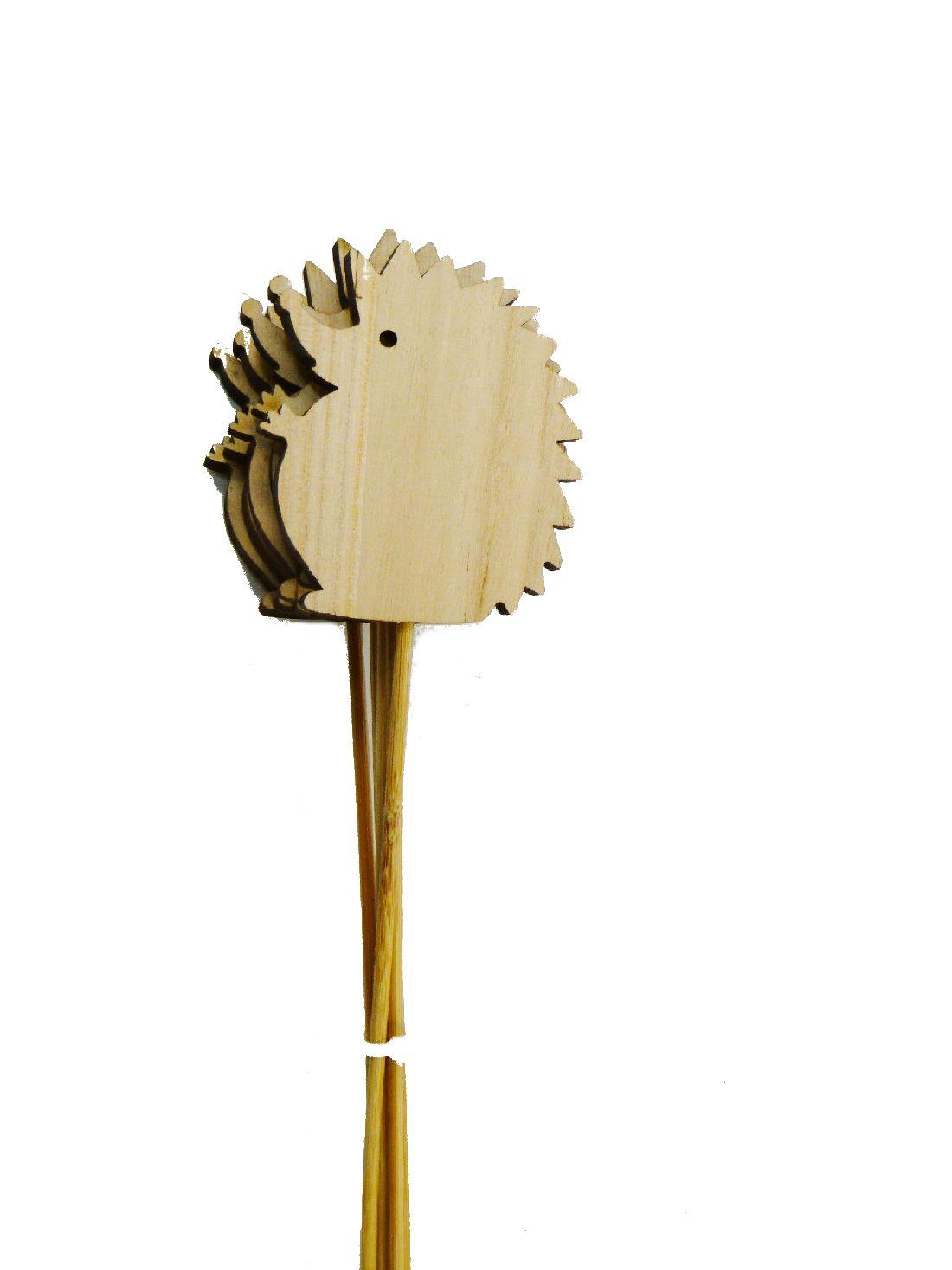 Holzstecker Waldtier NATUR 15026 Holz Igel 8cm Gesamtlänge: 38 cm