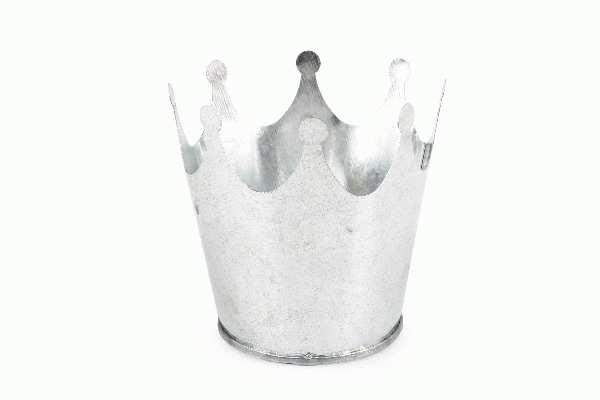 Krone Metall SILBER 6425700 Metallkrone Øoben=8cm/Höhe=7,5cm/Boden:5,5