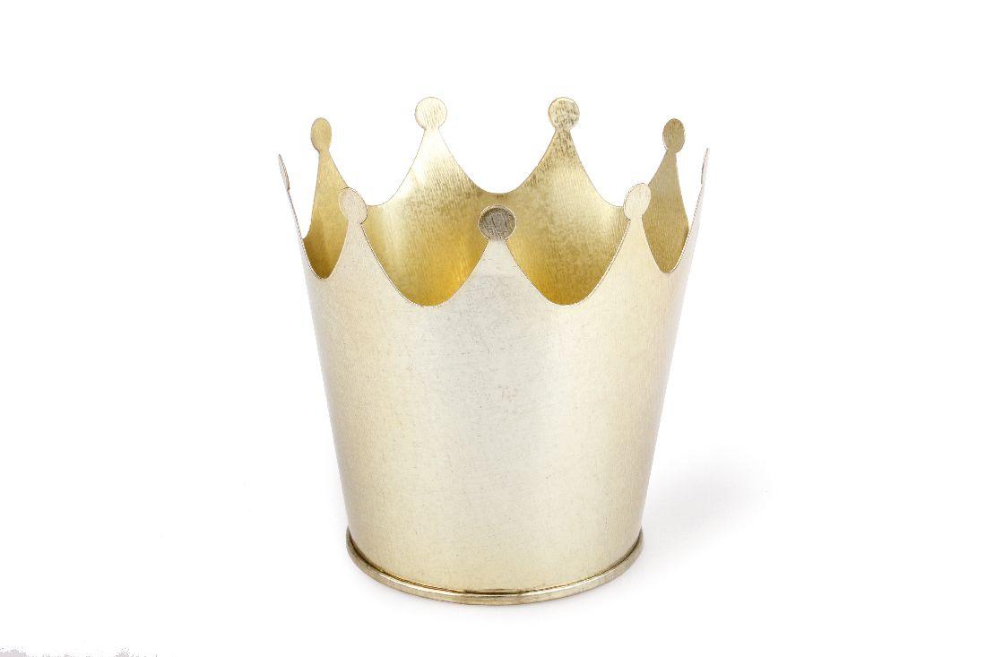 Krone Metall GOLD 6425706 Metallkrone Øoben=9cm H=10cm ØBoden=7cm