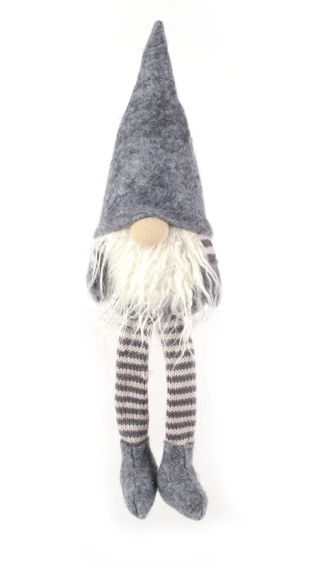 Wichtel Kantenhocker GRAU 08 21cm Wollstrick