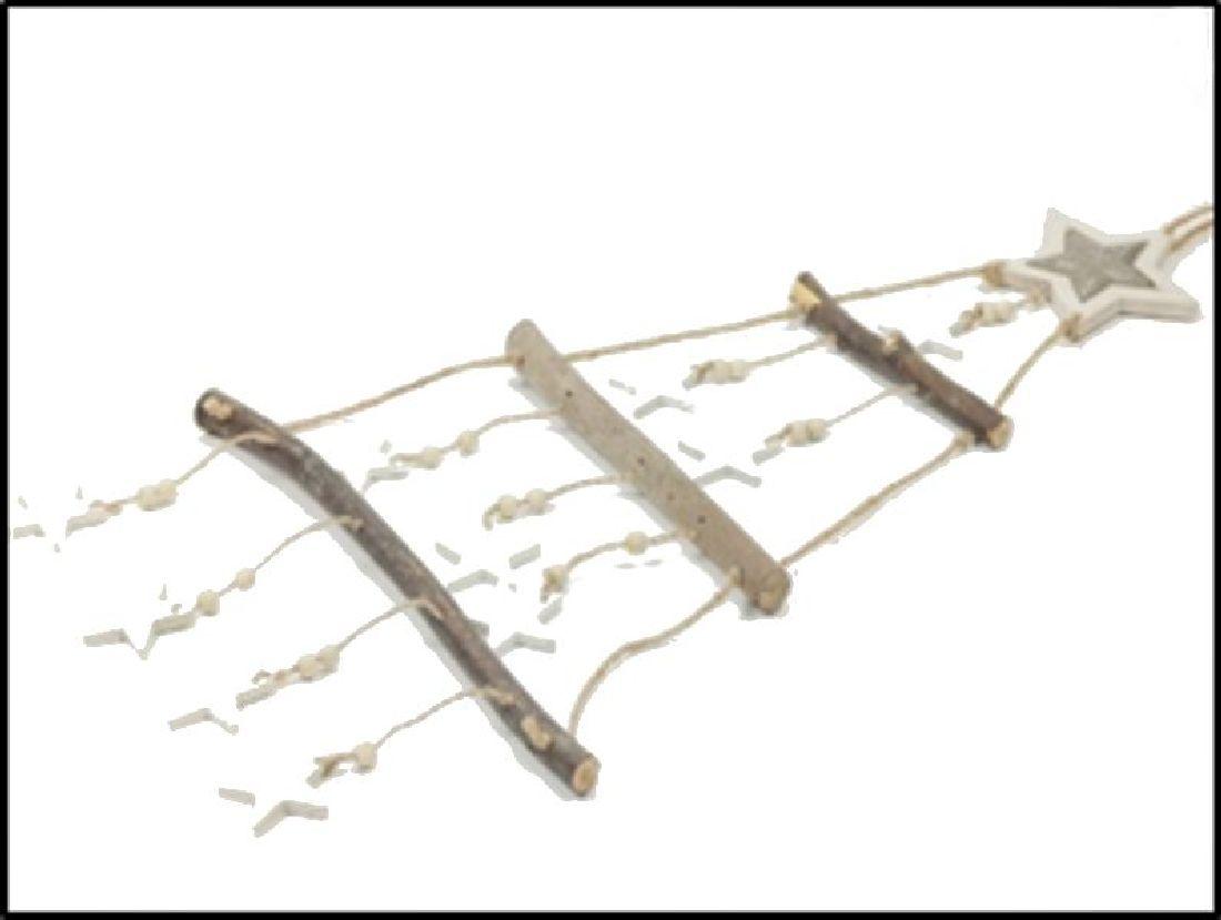 Holzleiter Cosy Christmas 22-6781 NATUR-WEISS 31x78cm Dekoleiter