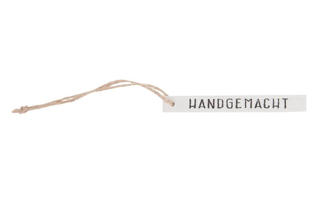 Holzschild / Label WEISS 21220 mit Kordel 20Stück