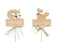 Fuchsstecker Welcome BRAUN 239024 2-fach sortiert