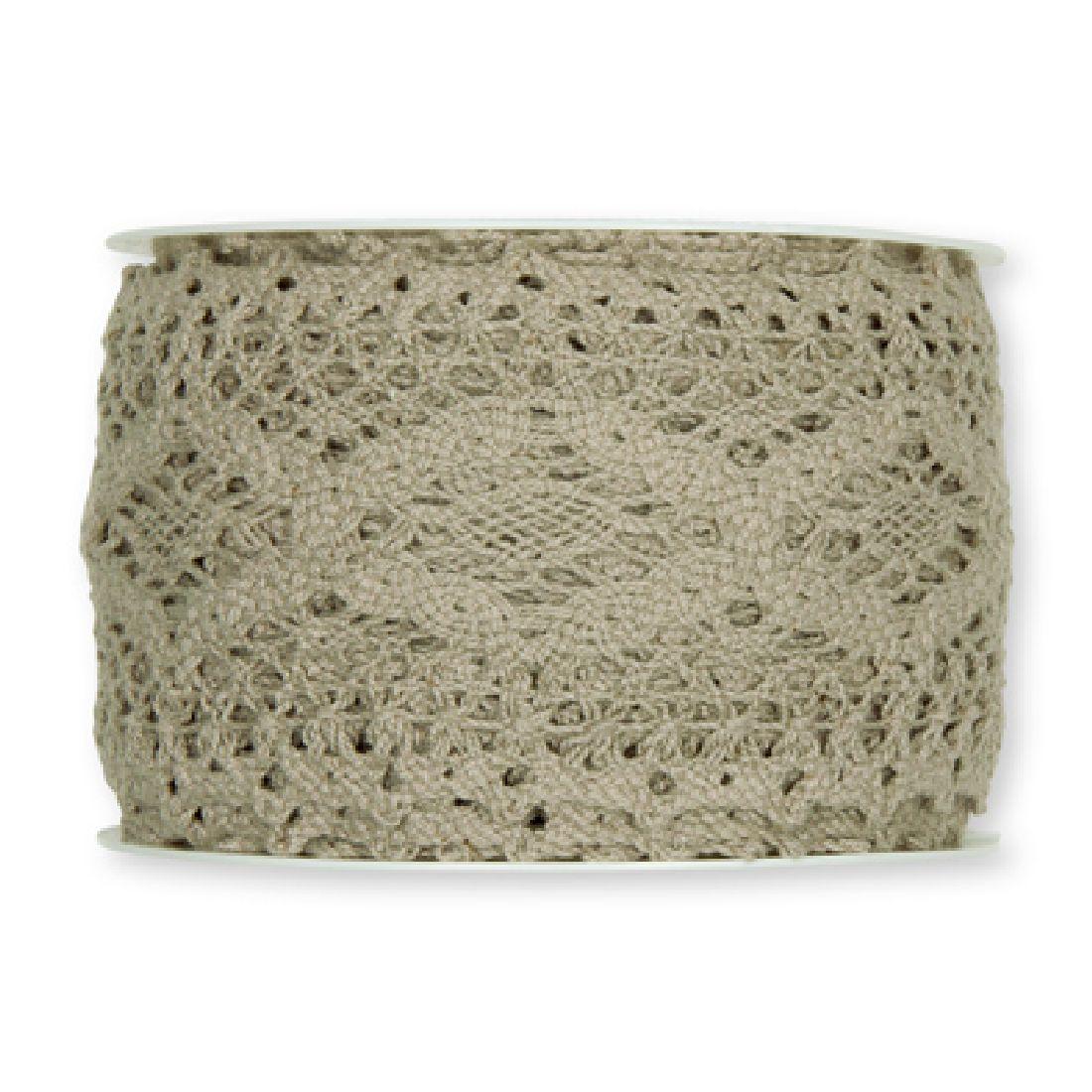 Häkelspitze schlamm-leinen73 aus Baumwolle Breite: 60 mm 2196