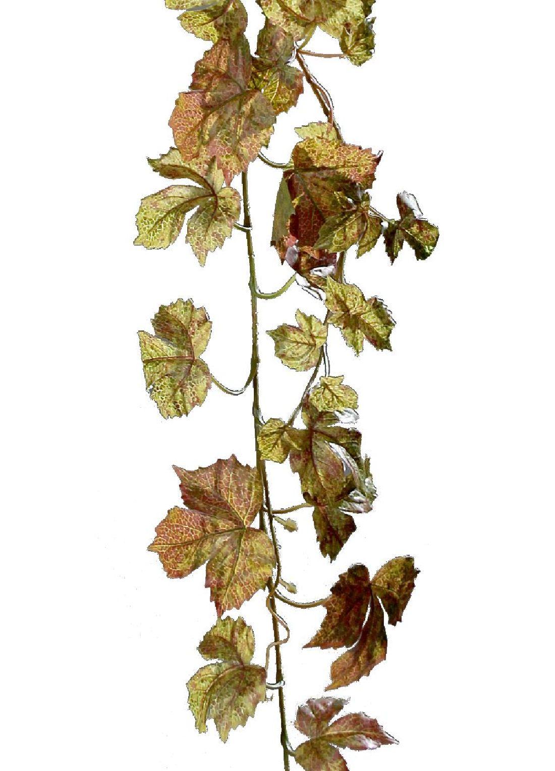 Herbstlaubgirlande GRÜN-BRAUN 28155 180cm Ahornlaubgirlande