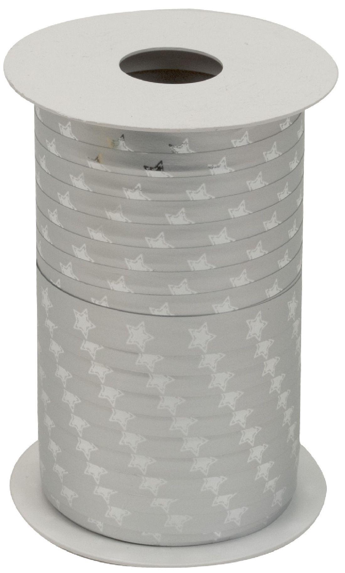 Polyband X-MAS Edition SILBER METALLIC Ringelband 10mm 150Meter Ziehband