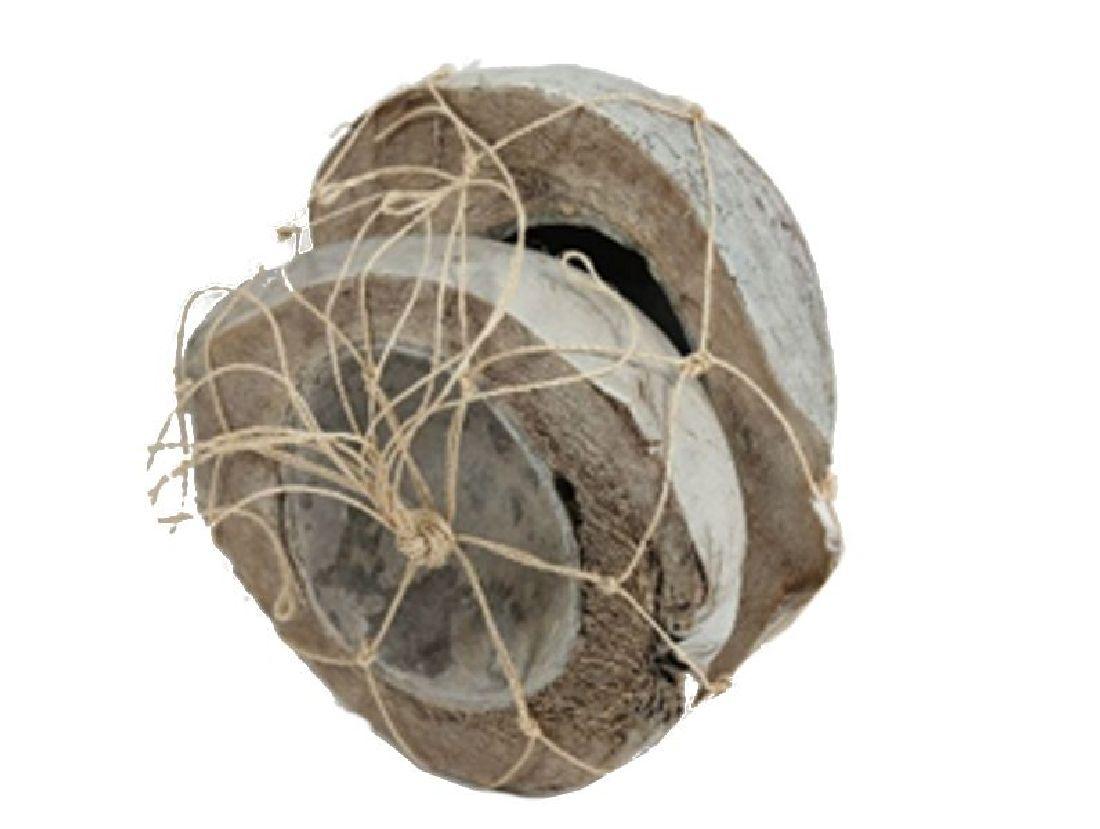 Kokosnuss Hälfte white-wash 10-1090 2 Stück 18-22cm