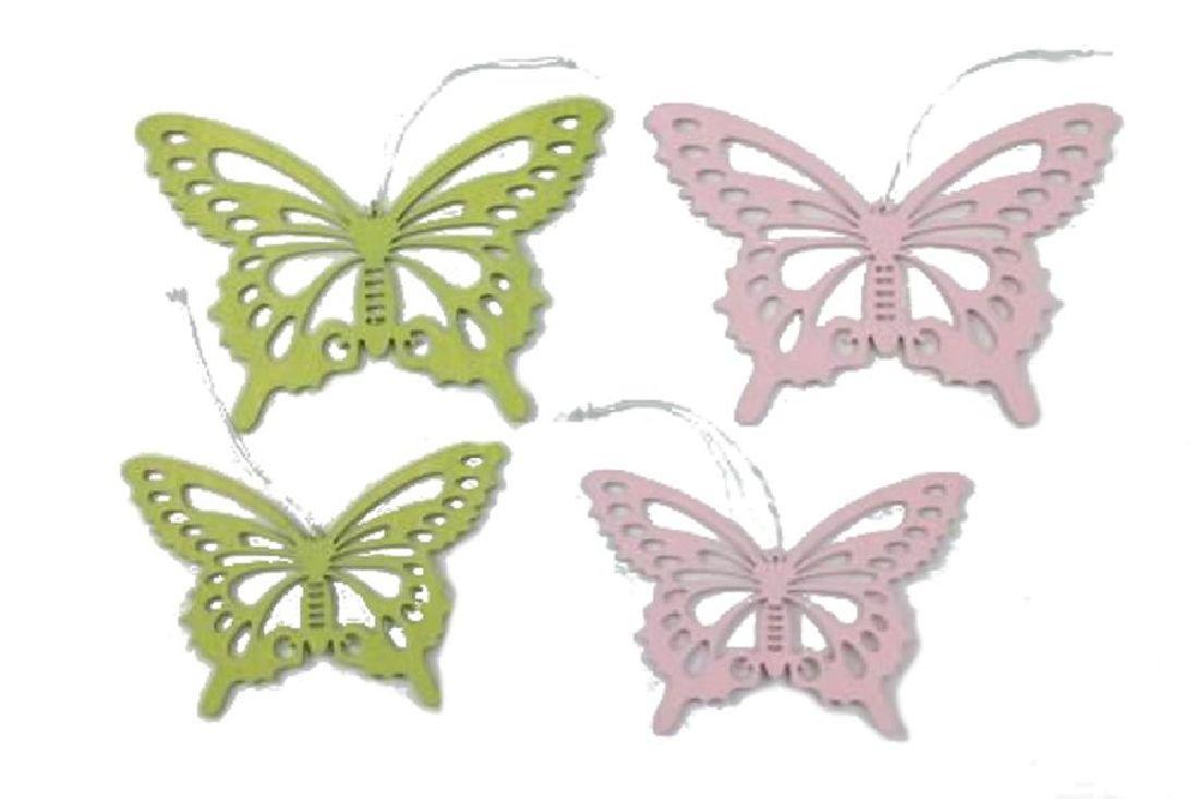 Schmetterling Emilia ROSA-GRUEN 17188 2 Größen Hänger8,5x12cm + 10x15,5cm