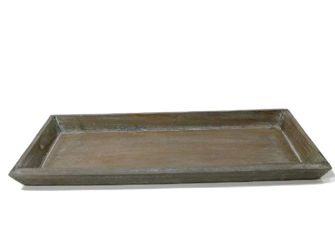 Tablett / Holztablett GRAU 10228 39x15xH2,5cm Dekotablett