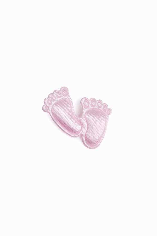 Babyfüßchen Satin ROSA 1252143 aus Satin Mädchen 2cm ca.150Stück