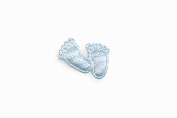 Babyfüßchen Satin HELLBLAU 1252142 aus Satin Junge 2cm ca.150Stück