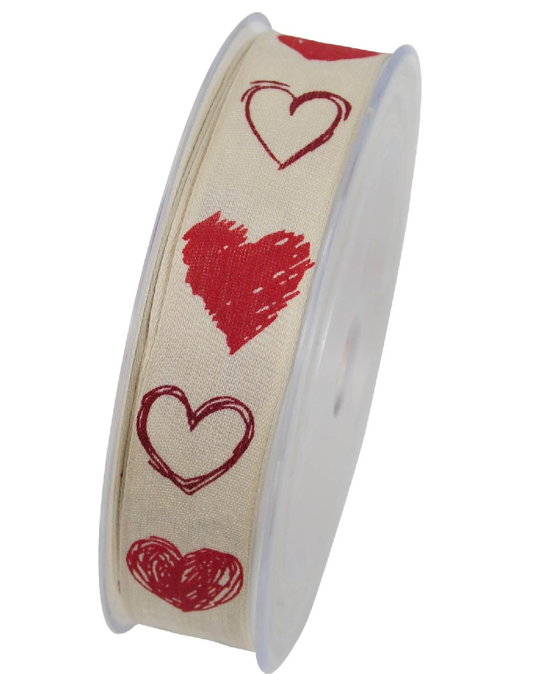 Herzband Heiratsantrag ROT X752 20 B:25mm L:20Meter mit Draht