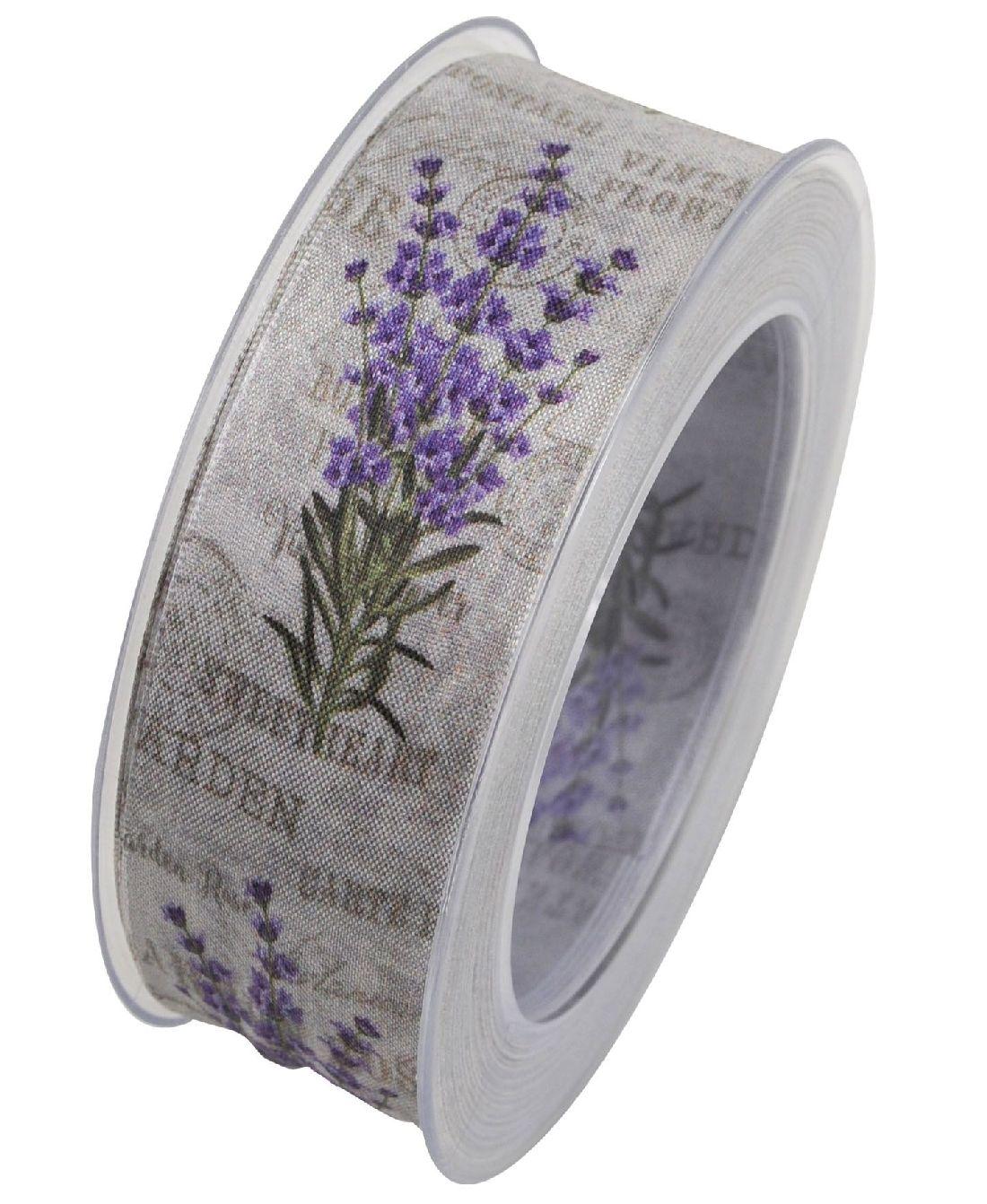 Band Lavendel Vintage Flower LAVENDEL X769 formstab.Kante B:40mm L:20Meter Garden