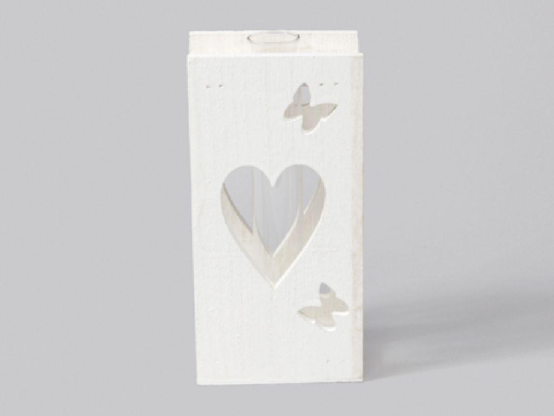 Reagenzglas im Holzdekorrahmen WEISS 346085 10x6x20cm