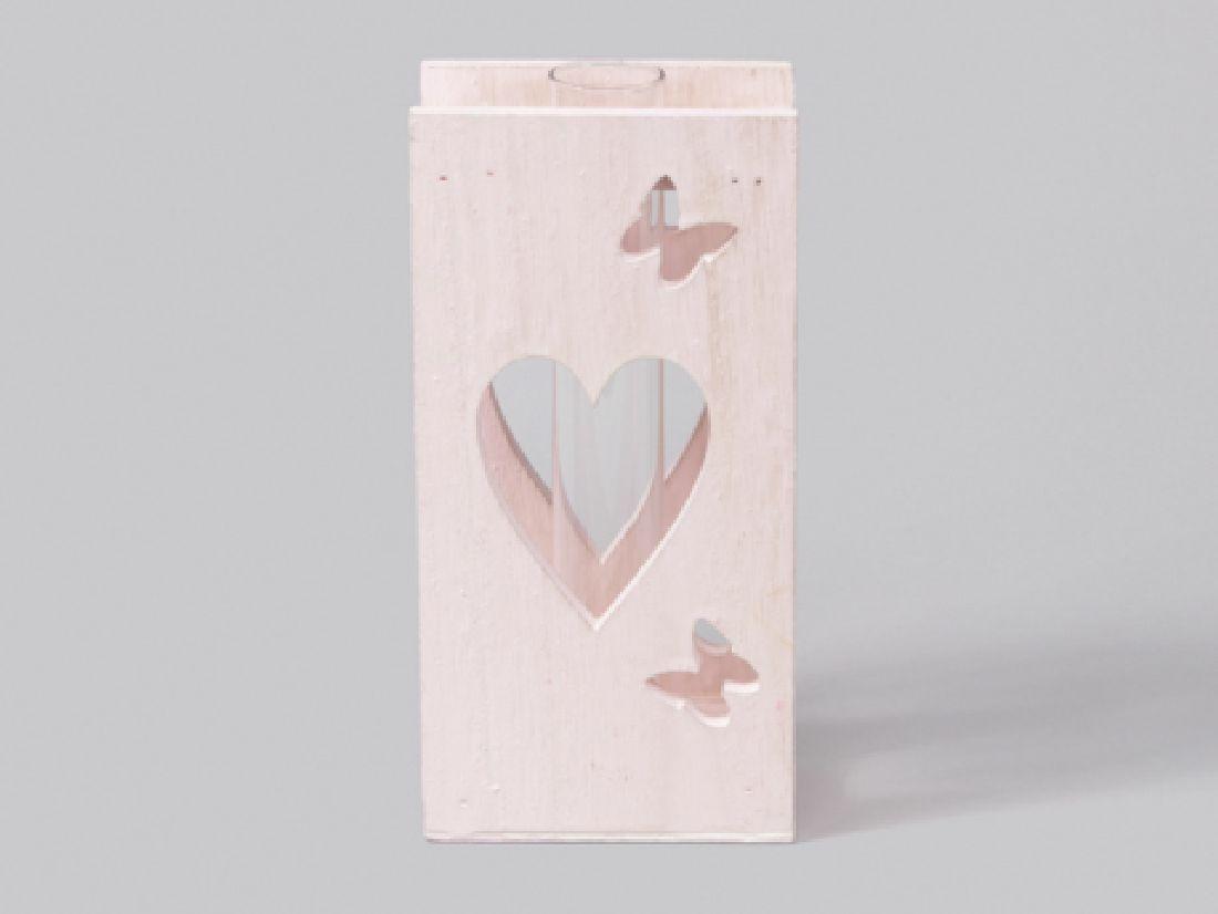 Reagenzglas im Holzdekorrahmen ROSA 346088 10x6x20cm