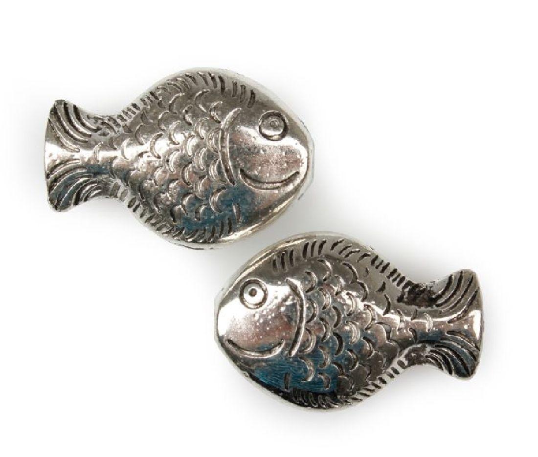 Fisch Smile SILBER 5425268 Streufische L:2cm B:1,5cm mit Loch 90Stück