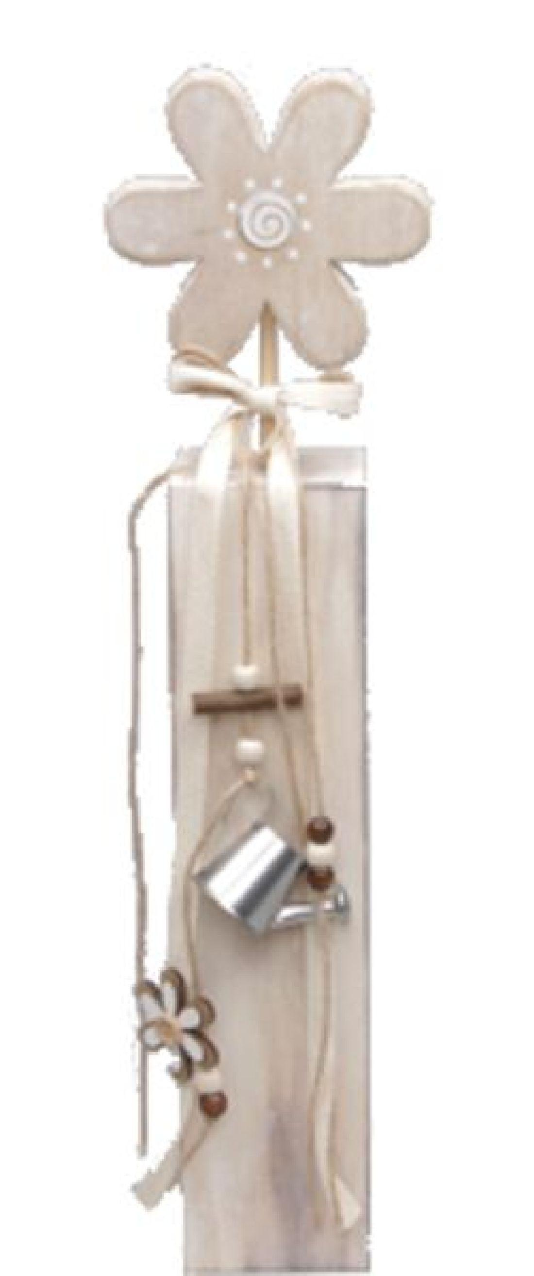Dekoständer Flower Metallgießkanne 330510 7x7xH44cm Holz mit Band,Perlen