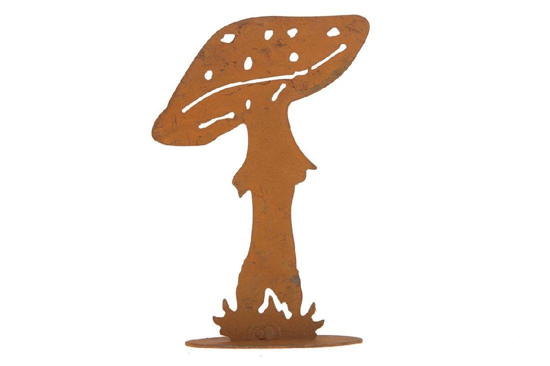 Rostdeko Herbstwald ROST 28283 Metall Pilz 11x7x3,5cm zum Stellen