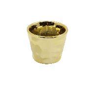 Keramik Topf Glamour GOLD-GLASIERT 8x6,5cm 59210