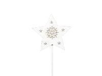Sternstecker Starlight weiss-washed 247140 7cm Holz