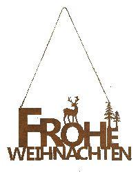 Rostschild FROHE WEIHNACHTEN ROST 490366 Hänger 35xH18,5cm