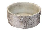 Topf Birke Baumstamm Birke 67532023 Schale rund 23x10cm Zement