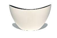 Schiffchen Kunststoff WEISS-SCHWARZ lackiert 24x10x14cm  54401324