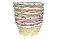 Bambuskorb Vintage pastell 6-farbig  64300925 rund Ø25xH10cm