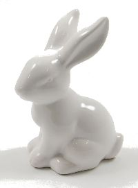 Hase Sweety Keramik WEISS GLASIERT 39593 7x5xH10,4cm
