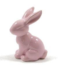 Hase Sweety Keramik ROSA GLASIERT 39445 7x5xH10,4cm