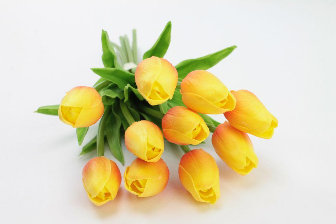 Tulpen GELB-ORANGE 86150 23 L:33cm 10Stück=1Bund