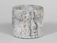 Topf Birke Baumstamm mit Herz Birkenoptik 349145 Ø12xH10,5cm mit Herz / Zement