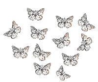 Schmetterling Filigrano SILBER mit Aufhängeöse 5x4cm Metall 5421192