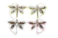 Libelle mint-rosa-gelb-grün 8761213 Hänger 7x5,5cm Metall-Polyeste