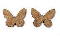 Schmetterling Streu Kork NATUR Kork 4,5cm 2-fach 18165