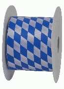 Rautenband / Bayernband WEISS-BLAU 8472 B:70mm  L:25Meter