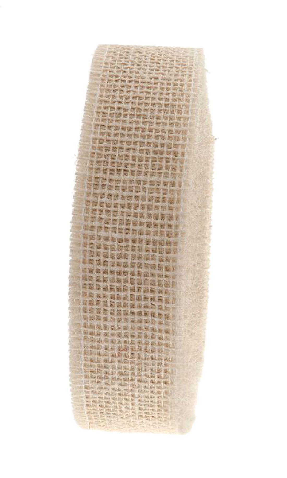 Jute Band hart CREME 102 5cm 40m