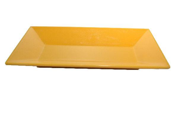Plastikschale rechteckig GELB 19x9,5cm