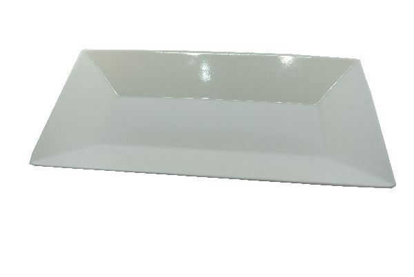Plastikschale rechteckig WEISS 26x13cm