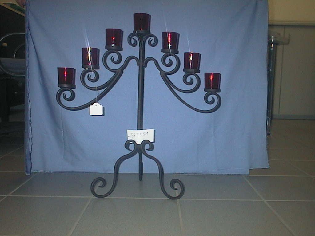 Kerzenstaender x7 ROST         150cm