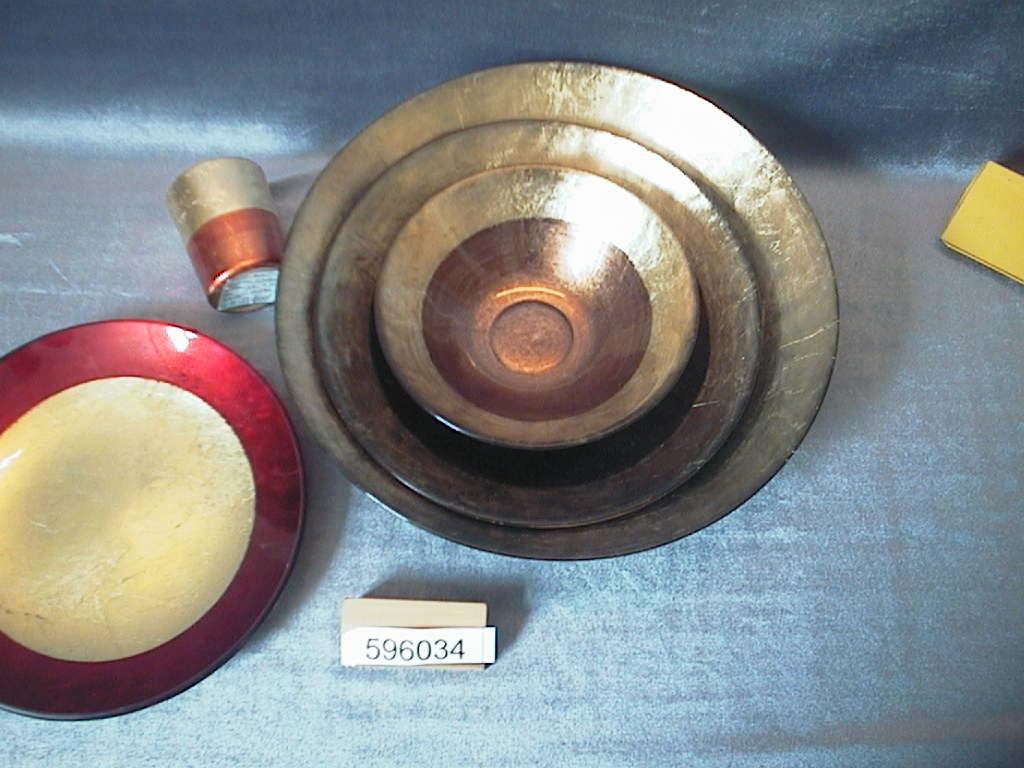 Schale Glas/Keramik ROT 28 cm