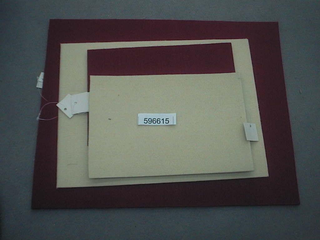 Filzunterlage eckig ROT          40x30 cm